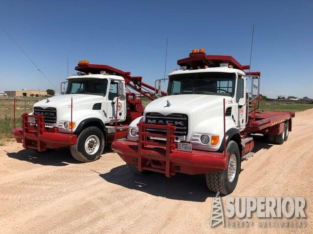 "(2) 2007 MACK CV713 Granite T/A Pole Trucks w/ 337""WB – YD1"