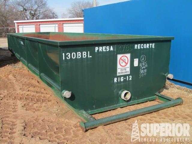 (1 of 6) UNUSED 130-Bbl Half Round Shale Tanks – DY1 YD2