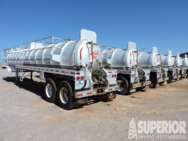 (12) DRAGON 150-Bbl Alum Vac Trailers – YD1