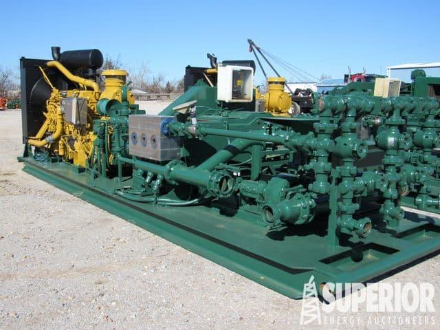 (1 of 2) KERR T-60 Triplex Mud Pump p/b CAT C-18 w/ Low Hours! – YD1