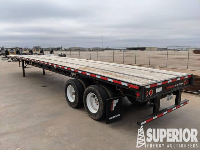 2018 FONTAINE 48' Flatbed Trailer w/ Sliding Tandems – YD2